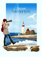 Seascape Background Illustration vector