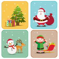 Christmas and new year decoration background