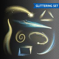 Gold Glittering Elements