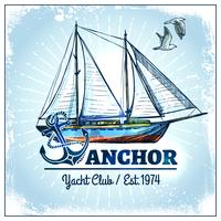 Cartaz do navio da vela