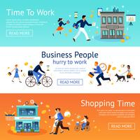 Business People Banner Set