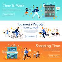 Conjunto de Banner de pessoas de negócios