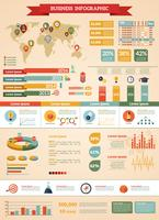 Conjunto de infográfico de estratégia de negócios