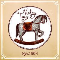 vintage rocking häst