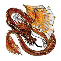 Dragon Sketch Color vector