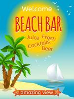 poster bar sulla spiaggia