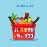 Shopping Basket Flat Concept