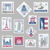 Postage Stamps Set
