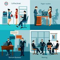Conjunto de trabajadores de oficina