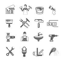 Ensemble d'icônes de réparation à domicile