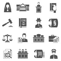 Conjunto de iconos de ley