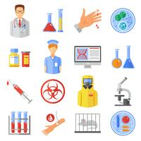 Microbiology Icons Set