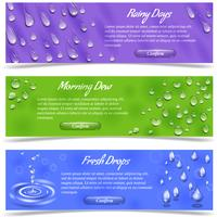 waterdruppels banner set