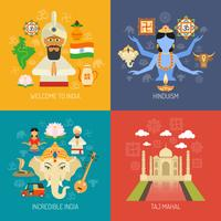 conjunto de concepto de india