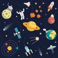 Space Background Flat vector