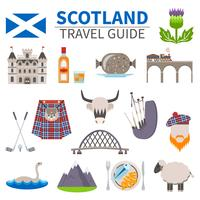 Escocia Travel Icons Set