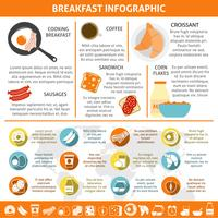 Frukost Flat Color Infographic