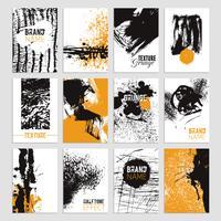 Conjunto de cartão de textura grunge