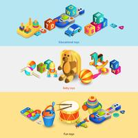 Toys Isometric Banners