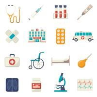 Medizinische Icons Flat Set