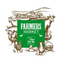 Quadro de mercado de fazenda