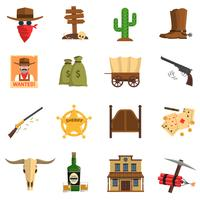 Conjunto de ícones de vaqueiro