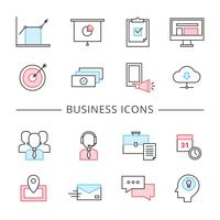 Ligne d'affaires Icons Set