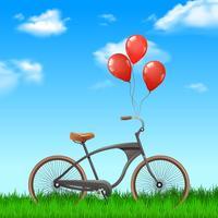 Vélo Avec Ballons