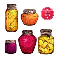 Colored Jam Jars