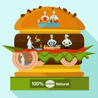 Concepto de cocina de personas