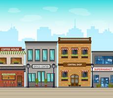 Ilustración de fondo de la ciudad