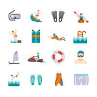 Natation Icons Set