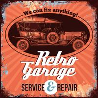 Design de serviço de carro antigo