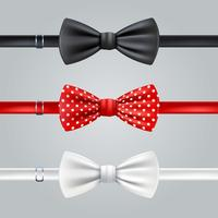 Bow Ties Realistic Set