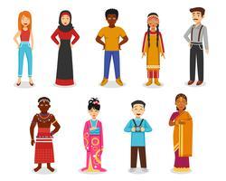 Conjunto de iconos de personas