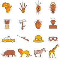Safari Icons Set vector
