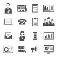 Marketing Black Icons