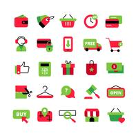 E-commerce en winkelen Icons Set