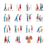 Family Problems Icons vector