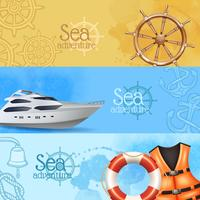 Sea Adventure Banners Set