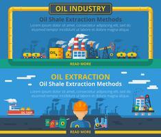 Ölindustrie Banner gesetzt