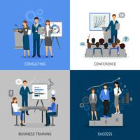 Set di immagini di formazione aziendale 2x2