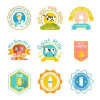 Milk emblem set