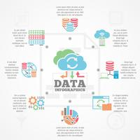 Data Analytics Infographic Flat Icons Banner