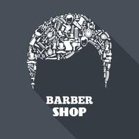 Barber Shop Concept vector