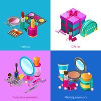 Set isometrico di cosmetici