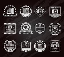 Ensemble d'emblèmes de tableau photo industrie