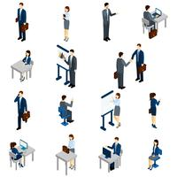 Business People Isometric Set