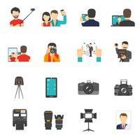 Set di icone di fotografia
