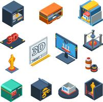 3D Printing Isometric Icons Collection